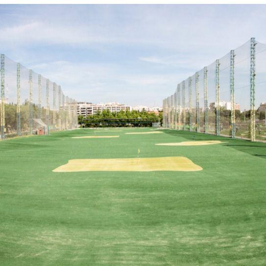 Actual campo de golf dentro de las instalaciones deportivas del Canal de Isabel II en Chamberí.