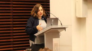 La delegada del área de Políticas de Género y Diversidad, Celia Mayer ha presentado la app 'Madrid: Ciudad de las Mujeres'.