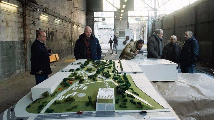 Maqueta del proyecto de los cooperativistas para las cocheras de Cuatro Caminos.