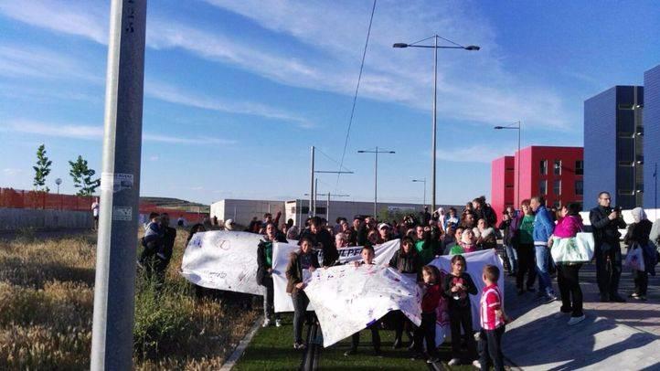 La protesta de la plataforma se convocó en la Avenida de las Estrellas