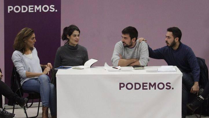 Reunión del Consejo ciudadano de Podemos Comunidad de Madrid tras las primarias donde ha salido elegido Ramón Espinar como secretario general.