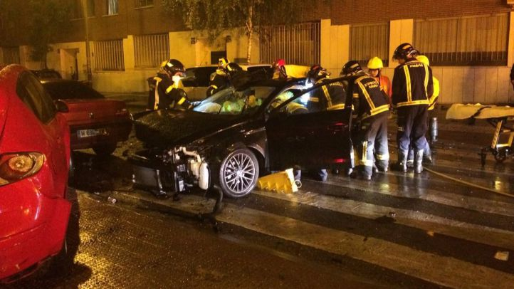 Accidente en la calle del Simca