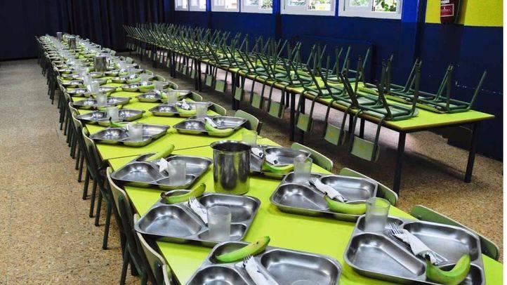 La cuota oficial de los comedores escolares seguirá congelada en los 96 euros