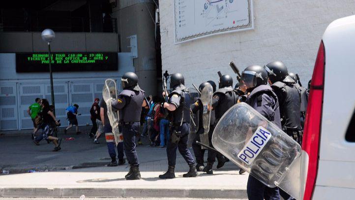 Seguridad en el estadio Santiago Bernabéu