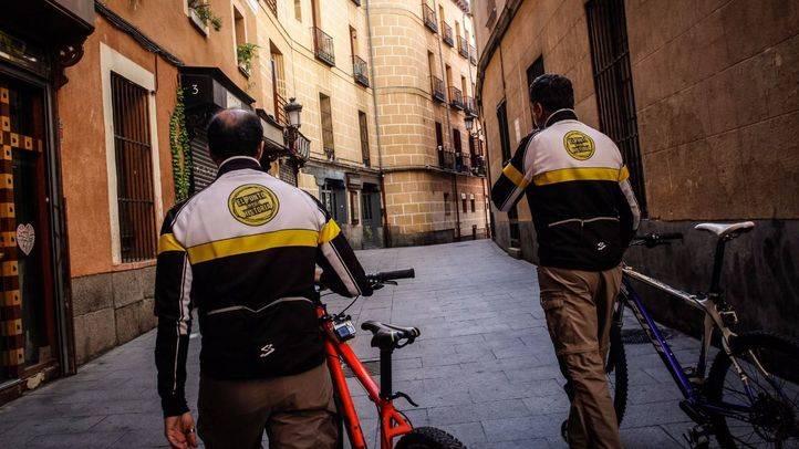 Rodaje de un capítulo en las inmediaciones de la plaza del Conde de Miranda.