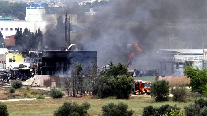Incendio en una nave industrial en Arganda del Rey