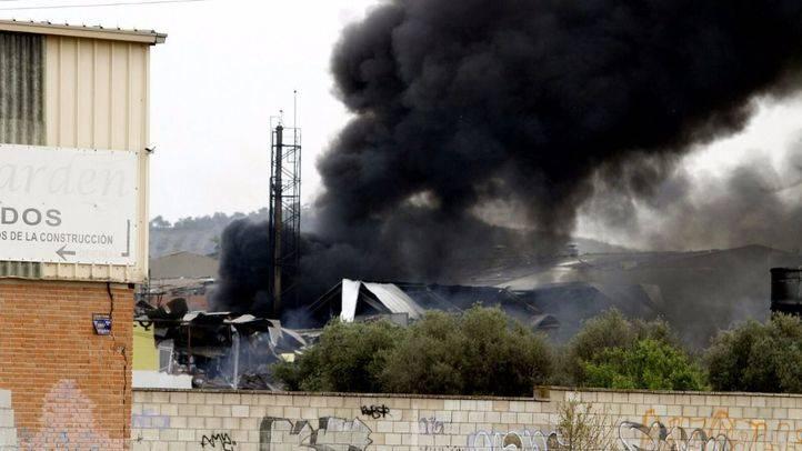 Extinguido el incendio de Arganda, dos días después