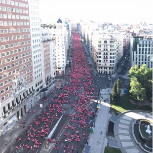 La Carrera de la Mujer recorre el centro con 33.000 participantes