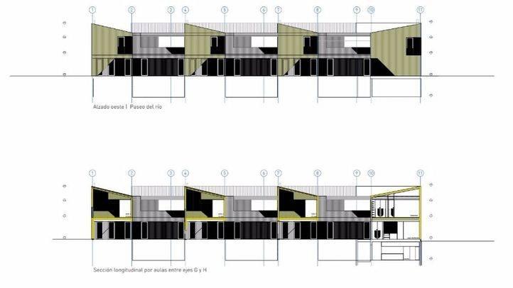 Vista del proyecto para la escuela infantil Manzanares