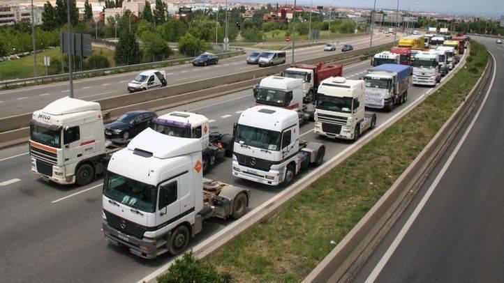 Marcha de camiones de mercancías