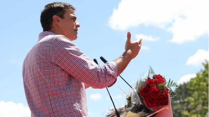 Pedro Sánchez, en su mitin en Cártama (Málaga), este sábado.