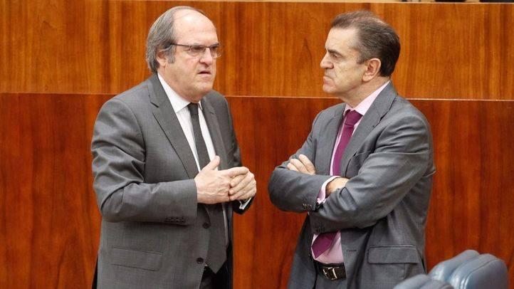 Ángel Gabilondo, portavoz del Psoe en la Asamblea de Madrid, y José Manuel Franco, portavoz adjunto.