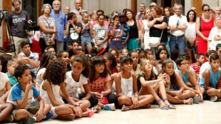 Despedida de los niños saharauis que han participado en el programa 'Vacaciones en Paz'