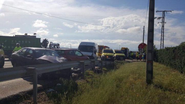 Herido en un accidente de tráfico en Talamanca de Jarama