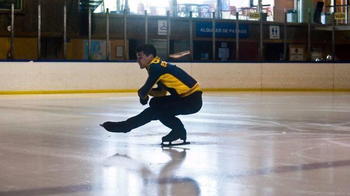 Patinador. Campeón de patinaje sobre hielo