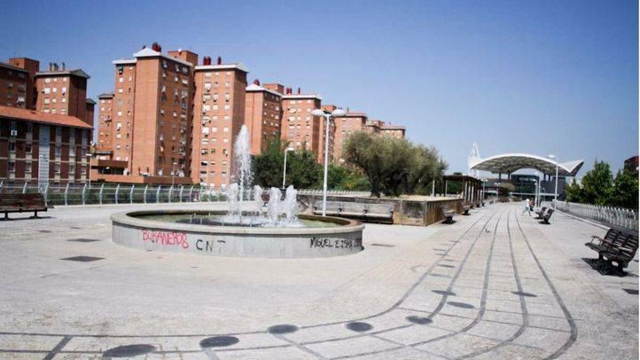 Palomeras bajas en el distrito Puente de Vallecas.
