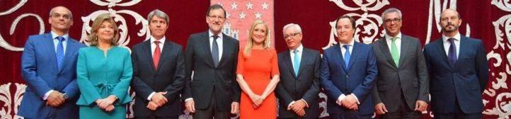 Los consejeros del Gobierno de Cifuentes toman posesión de cargo arropados por Rajoy
