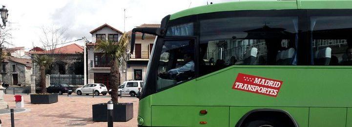 Un autobus Interurbano en Galapagar