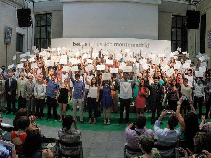 Acto de entrega de las Eurobecas de la Fundación Montemadrid en la Casa Encendida.
