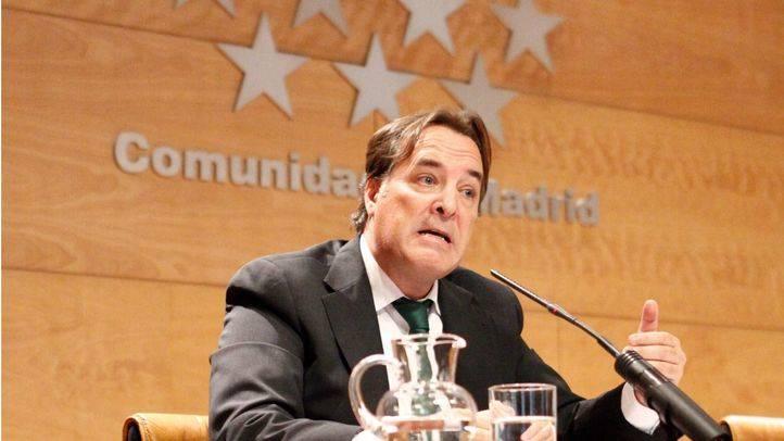Jaime González Taboada durante la rueda de prensa posterior al Consejo de Gobierno de la Comunidad de Madrid.
