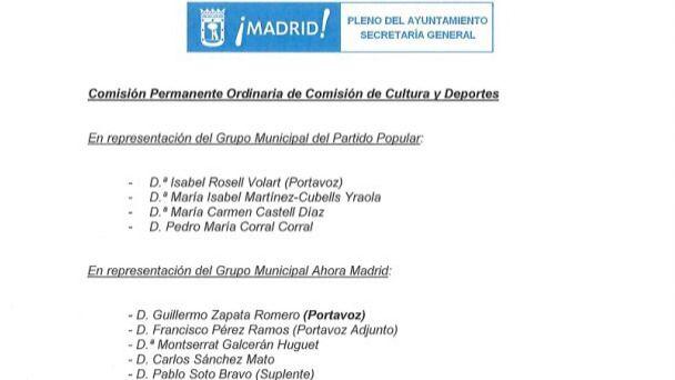 Nombramiento de Zapata como portavoz de Cultura.