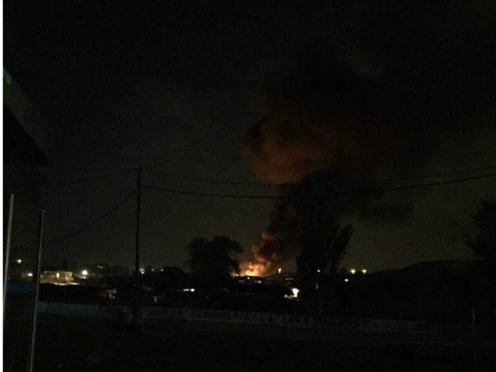 Incendio de un vertedero ilegal en Rivas-Vaciamadrid