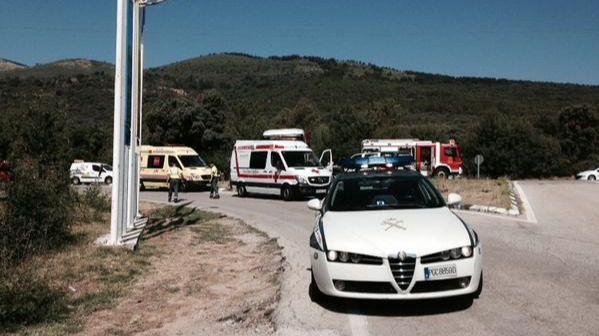 Herido grave un hombre de 79 años en un choque entre un camión y un turismo en San Lorenzo del Escorial