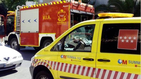 Atendidas 19 personas por inhalación de humo en un incendio en un piso de Parla