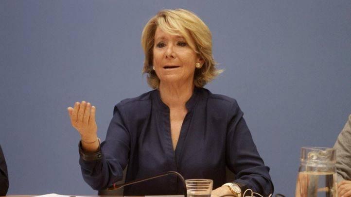 Esperanza Aguirre celebra la primera reunión de la legislatura
