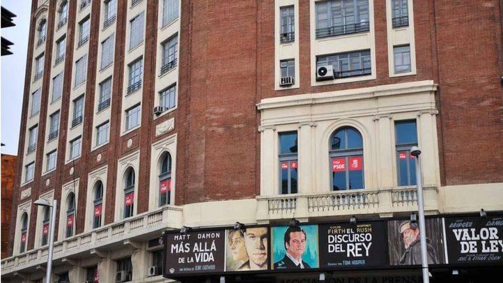 Sede del PSM PSOE en el palacio de la Prensa en Callao