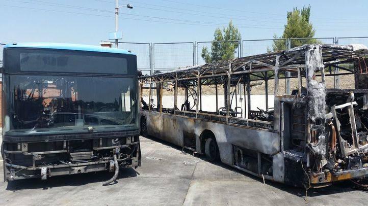 Autobuses de la EMT incendiados