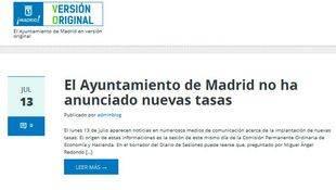 Página web Madrid Versión Original