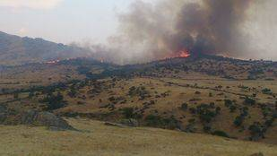 Controlado el incendio en el Cerro de San Pedro, en Colmenar Viejo