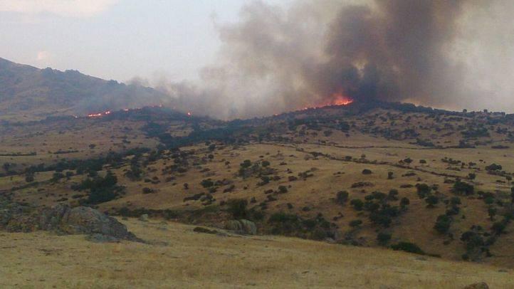 Incendio en el Cerro de San Pedro