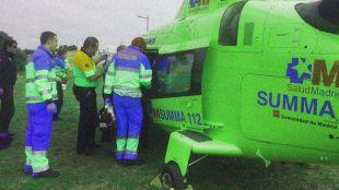 El menor ha sido trasladado primero al Hospital de Guadarrama