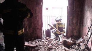 Fallece un hombre a causa de un incendio en una vivienda en la travesía de las Beatas