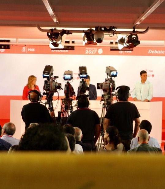 Díaz, López y Sánchez, en el debate del pasado día 15