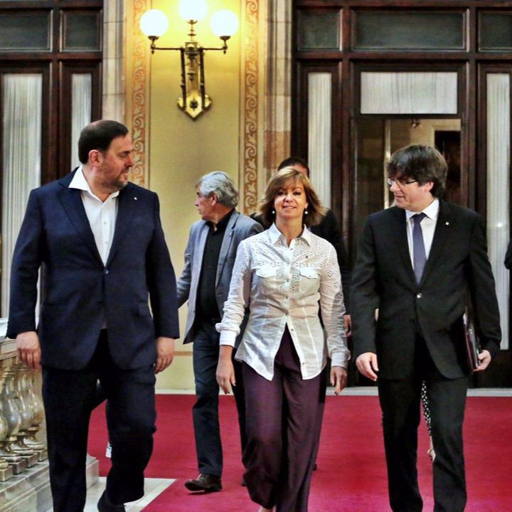 Junqueras, Borrás y Puigdemont