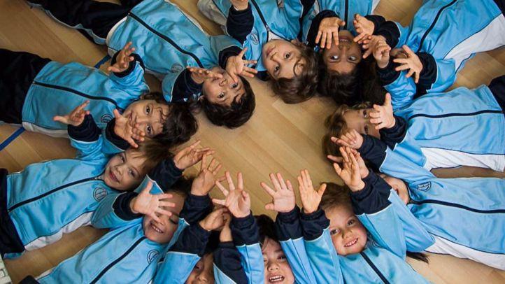 Alumnos en el colegio María Inmaculada de la Asociación de Escuelas Católicas.