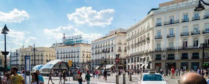 Turistas en el centro de Madrid
