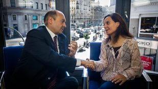 Entrevista a Sara Hernández, alcaldesa de Getafe y candidata a la secretaría general del PSM, en la Terraza de Gran Vía.