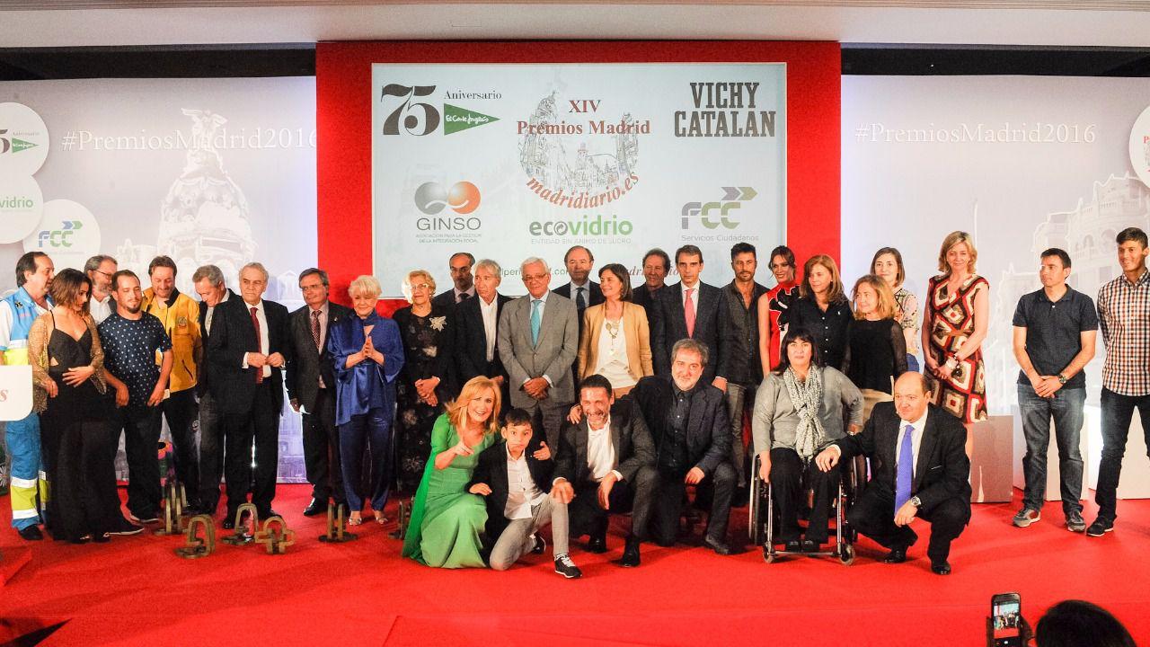 Ceremonia de entrega de los Premios Madrid 2016 en los que la sociedad madrileña ha arropado a Madridiario.