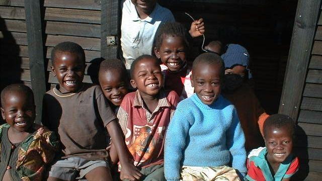 Niños en Zimbabwe