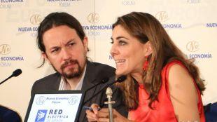 Pablo Iglesias y  Lorena Ruiz-Huerta