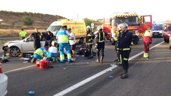 Fallece un bebé de cuatro meses en un accidente de tráfico en la A-2 en Alcalá de Henares