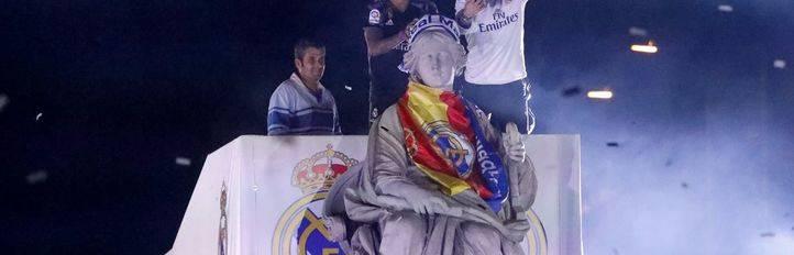 El Real Madrid festeja la Liga en Cibeles