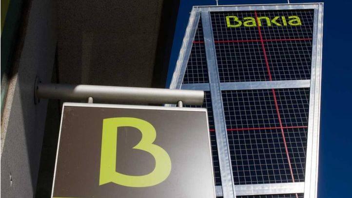 Sede de Bankia en la plaza de Castilla, situada en una de las Torres Kio
