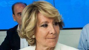 Esperanza Aguirre, presidenta del Partido Popular de Madrid preside el Comité Ejecutivo Regional del PP.