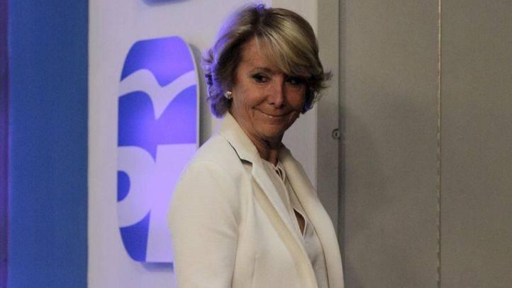 Esperanza Aguirre, en la noche electoral (archivo).