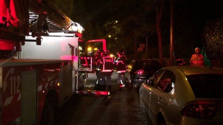 Incendio en la avenida de San Luis